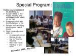 special program