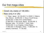 our first mega cities