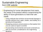 sustainable engineering from cse website