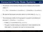 concurrent finite state systems 2 5