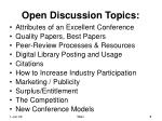 open discussion topics