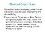 stanford green dorm