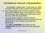 confidence interval interpretation