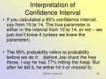 interpretation of confidence interval