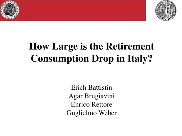 how large is the retirement consumption drop in italy n.