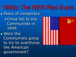 1950s the new red scare