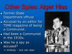 other spies alger hiss