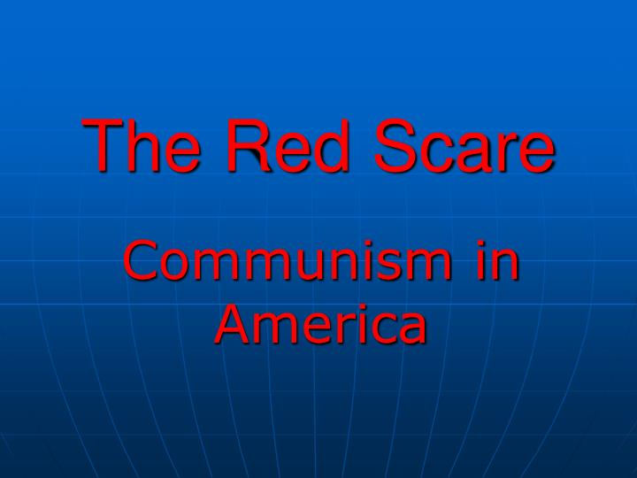 the red scare n.