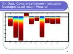 4 4 data covariance between fluctuation leveraged asset return houston