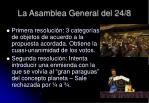 la asamblea general del 24 8
