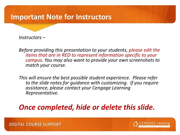 important note for instructors n.