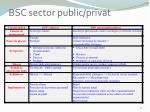 bsc sector public privat