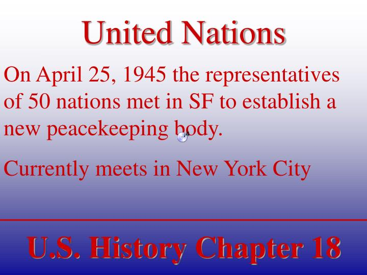 united nations n.