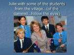 julie with some of the students from the village of the damned follow the eyes