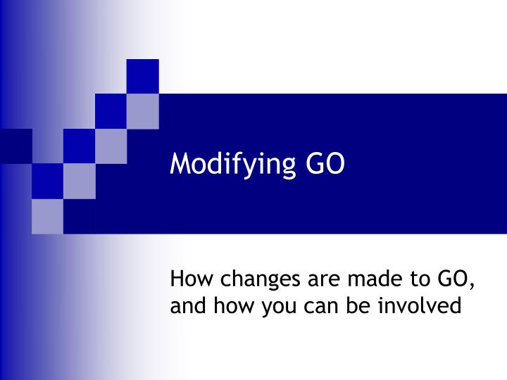 modifying go n.