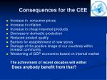 consequences for the cee