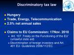 discriminatory tax law