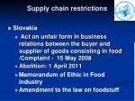 supply chain restrictions