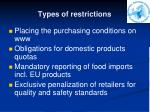 types of restrictions1