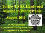 turkey usda hardwood mission to pennsylvania