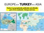 europe turkey asia
