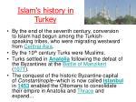 islam s history in turkey
