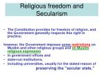 religious freedom and secularism