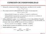 expresi n de indisponibilidad