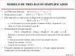 modelo de tres rayos simplificados