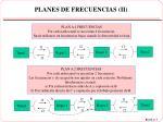 planes de frecuencias ii