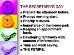 the secretary s day1