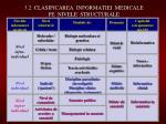 3 2 clasificarea informatiei medicale pe nivele structurale