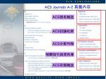 acs journals a z