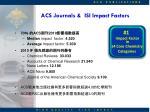 acs journals isi impact factors