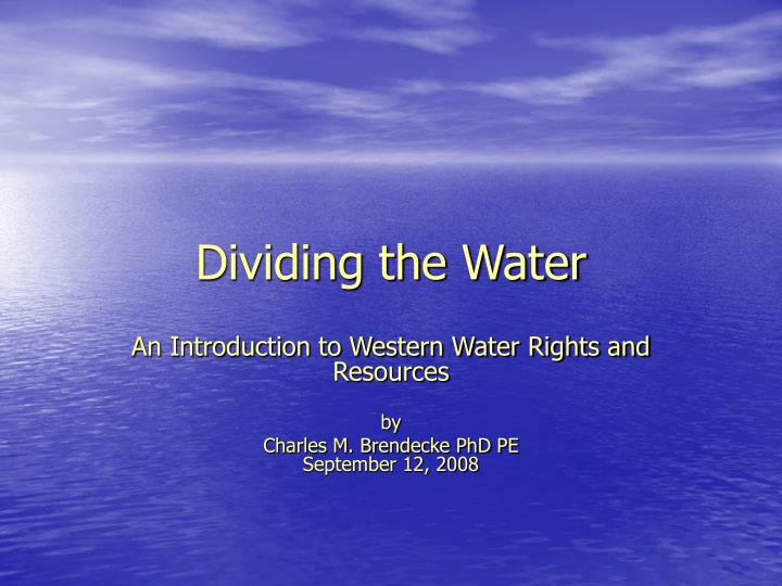dividing the water n.
