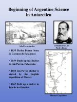 beginning of argentine science in antarctica