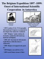 the belgium expedition 1897 1899 onset of international scientific cooperation in antarctica