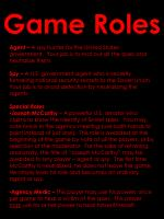 game roles