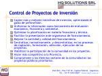 control de proyectos de inversi n