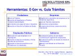 herramientas e gov vs gu a tr mites