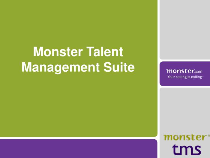 monster talent management suite n.