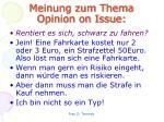 meinung zum thema opinion on issue1