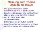 meinung zum thema opinion on issue2