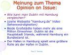 meinung zum thema opinion on issue3