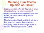 meinung zum thema opinion on issue4