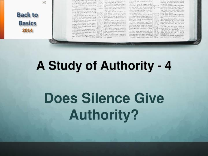 a study of authority 4 n.
