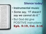 silence today