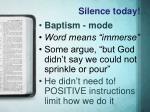 silence today1