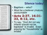 silence today2