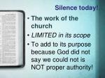 silence today4